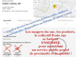 bureau de poste à proximité non à l arrêt des activités postales du bureau de poste curial ul