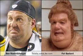 Ben Roethlisberger Meme - ben roethlisberger totally looks like fat bastard totally looks like