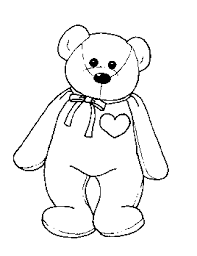 coloring u0026 activity pages beanie baby bear heart