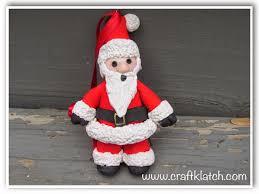 craft klatch polymer clay santa ornament diy