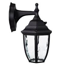 outdoor led photocell lights led outdoor wall light photocell sensor black w clear water glass