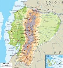 Map Showing Equator Physical Map Of Ecuador Ezilon Maps