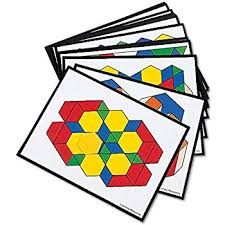 amazon com learning resources plastic pattern blocks set of 250