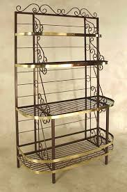Wrought Iron Bathroom Accessories by French Corner Bakers Rack Wrought Iron