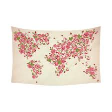 home decor floral interestprint earth map wall art home decor floral world map pink