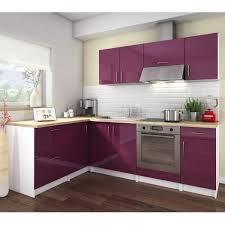 cuisine des aubergines cosy cuisine complète 2m80 laqué aubergine achat vente