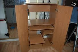 bureau pc meuble meuble ordinateur fermé meuble ferm pour ordinateur bureau pour