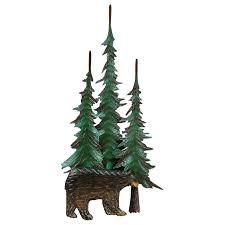 Black Bear Christmas Tree Ornaments by Black Bear U0026 Tree Metal Wall Sculpture