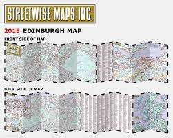 Edinburgh Map Streetwise Edinburgh Map Laminated City Center Street Map Of