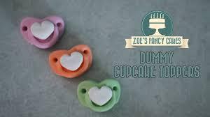 cupcake toppers fondant baby dummies cake decorating tutorials