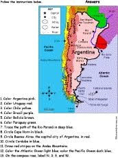physical map of argentina south america enchantedlearning
