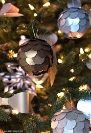 Christmas Decorations For Your Tree by Diy Metallic Paper Ornament For Your Christmas Tree