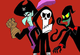 grim adventures of billy and mandy halloween background boogey grim and nergal by kenny boy on deviantart