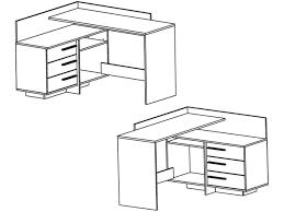 Breiter Schreibtisch Eckschreibtisch Schreibtisch Arbeitstisch Bürotisch Computertisch