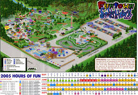 Six Flags New England Map by Theme Park Page Park Map Archive