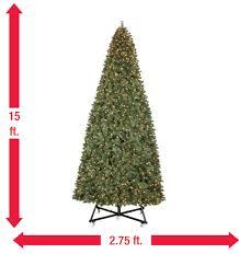 15 ft pre lit led wesley pine artificial tree x 6558
