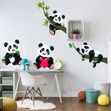 stickers panda chambre bébé boutique en ligne de stickers muraux wall fr