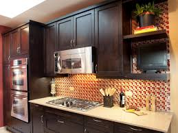 modern kitchen backsplash ideas checkerboard vinyl tile flooring