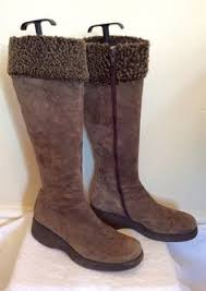 womens boots size 6 brown faux suede stretch knee high boots size 7 40 30
