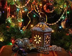 wallpaper new year tree lights toys garlands