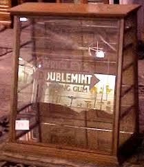 Antique Brass Display Cabinet Oak Doublemint Gum Store Display Case Brass Lantern Antiques