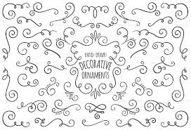 collection of isolated swirl ornaments stock vector