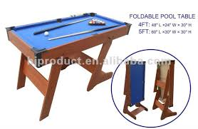 Folding Pool Table 8ft 4ft 5ft 6ft 7ft Indoor Sport Superior Stand Up Pool Table Folding