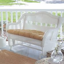 White Wicker Patio Furniture - coral coast casco bay resin wicker outdoor glider loveseat hayneedle