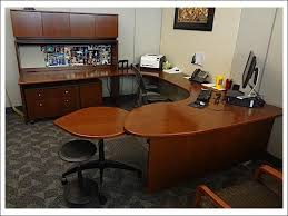 steelcase u shape executive desks credenza set w hutch