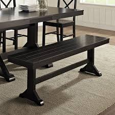 black wood dining room table amazon com we furniture solid wood dark oak dining bench kitchen