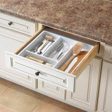 Cutlery Drawer Organizer Plate Racks Kitchen Cabinet Organizers The Home Depot