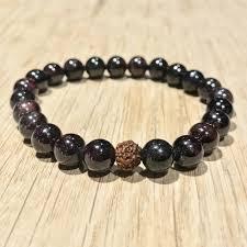 garnet gemstone bracelet images Garnet bracelet zessoo jpg