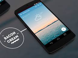 weather apps free android android l weather app by baconcream by cervi dribbble