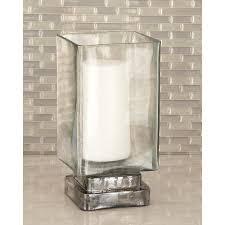 Hurricane Candle Holders 10 In Rectangular Frosted Glass Hurricane Candle Holder 24684