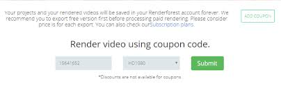 renderforest coupon how to get one renderforest