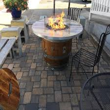 wine barrel fire table wine barrel fire pit custom fire pits smokin barrel works