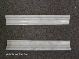 white carrara chair rail onlinestonecatalog