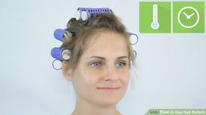 how to put rollersin extra short hair 3 ways to use hair rollers wikihow