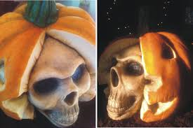 pumpkin skull cake short and sweet