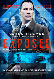 new poster u0026 clip for keanu reeves thriller exposed film reviews