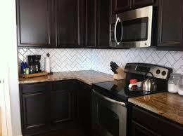 glass tile backsplash with dark cabinets kitchen kitchen backsplash ideas for dark cabinets backsplash tile