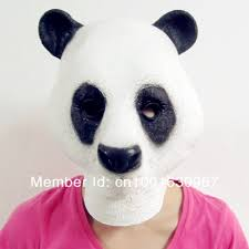 cheap halloween mask creepy cute panda animal head mask on aliexpress com 16 99