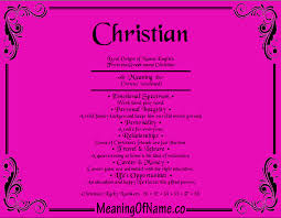 christian meaning of name
