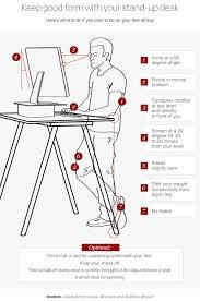 Ergonomic Office Desk Setup Creative Of Ergonomic Standing Desk Setup Best Ideas About Stand