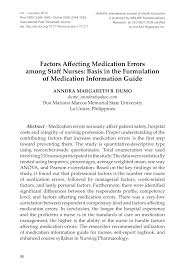 factors affecting medication errors among staff nurses basis in