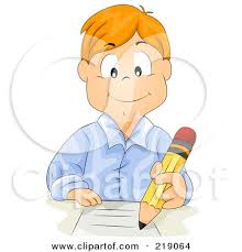 homework design studio royalty free rf clipart illustration of a red haired school boy