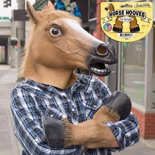 fake horse head creepy horse head archie mcphee
