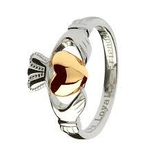 friendship rings meaning claddagh sterling silver ring with real 10k gold heart this ring