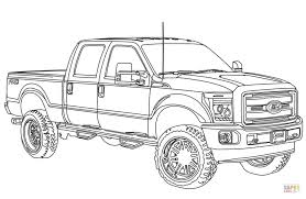 2014 ford f250 lifted coloring page download transportation