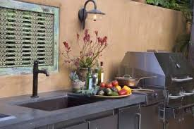 Outdoor Kitchen Faucet Sink Chic Outdoor Kitchen Faucet Inspirations And Faucets Picture